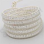 - Bratara colier siret alb cristale albe - PK2276