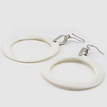 Bijuterii argint cu abalone - Cercei argint si sidef alb - C761A