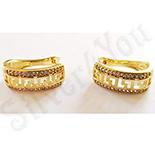 Cadouri Femei 1-8 Martie - Cercei auriti cu aur de 14K zirconii albe - ZS1296