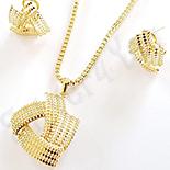 Set cercei, pandantiv si lant aurit cu aur de 14K - ZS1300