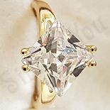 Cadouri Femei 1-8 Martie - Inel in culoarea aurului 14K zirconii albe - ZS1303