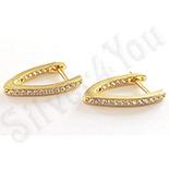 Cadouri Femei - Cercei in culoarea aurului 14K zirconii albe - ZS1310