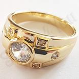 Cadouri Femei 1-8 Martie - Inel in culoarea aurului 14K zirconii albe - ZS1311