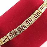 Bratara in culoarea aurului 14K zirconii albe - ZS1335