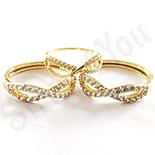 Set inel si cercei in culoarea aurului 14K zirconii albe - ZS1351