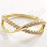 Inel in culoarea aurului 14K zirconii albe - ZS1347