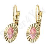 Cercei in culoarea aurului 14K zirconii roz - ZS1354