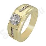 Inel in culoarea aurului 14K zirconii albe - ZS1357