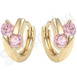 Cercei in culoarea aurului 14K zirconii roz - ZS1355