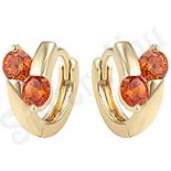 Cercei in culoarea aurului 14K zirconii rosii - ZS1356