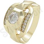 Inel in culoarea aurului 14K zirconii albe - ZS1361