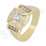 Inel in culoarea aurului 14K zirconii albe - ZS1358