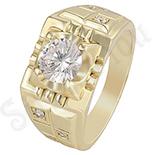 Ghiul in culoarea aurului 14K zirconii albe - ZS1359