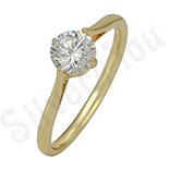 Inel in culoarea aurului 14K zirconii albe - ZS1360
