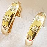 Cercei in culoarea aurului 14K zirconii albe - ZS1369
