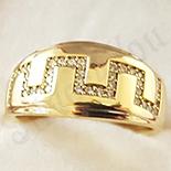 Inel in culoarea aurului 14K zirconii albe - ZS1370