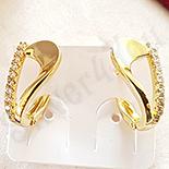 Cercei in culoarea aurului 14K zirconii albe - ZS1375