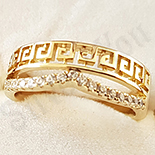 Inel in culoarea aurului 14K zirconii albe - ZS1377
