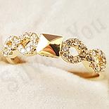 Inel in culoarea aurului 14K zirconii albe - ZS1378