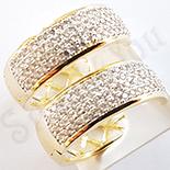 Cadouri de Craciun - Cercei auriti cu aur de 18K - 8 cm - ZS1392