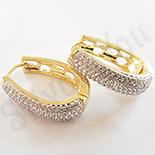 Cercei in culoarea aurului 14K zirconii albe - ZS1390