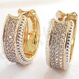 Cercei in culoarea aurului 14K zirconii albe - ZS1393
