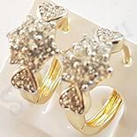 Cercei in culoarea aurului 14K zirconii albe - ZS1394