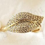 Inel in culoarea aurului 14K zirconii albe - ZS1400