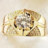 Inel in culoarea aurului 14K zirconii albe - ZS1401