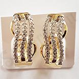 Cercei in culoarea aurului 14K zirconii albe - ZS1413
