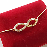 BRATARI - Bratara in culoarea aurului 14K zirconii albe - ZS1421