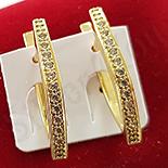 Cercei in culoarea aurului 14K zirconii albe - ZS1425