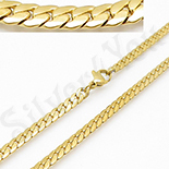 Cadouri de Craciun - Lant inox aurit - diferite lungimi/5 mm - BN405