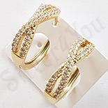 Cercei in culoarea aurului 14K zirconii albe - ZS1506