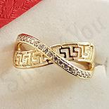 Inel in culoarea aurului 14K zirconii albe - ZS1510