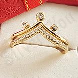 Inel in culoarea aurului 14K zirconii albe - ZS1511