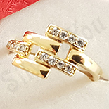 Inel in culoarea aurului 14K zirconii albe - ZS1512