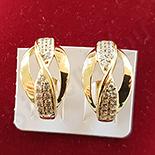 Cercei in culoarea aurului 14K zirconii albe - ZS1517