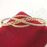 BRATARI - Bratara in culoarea aurului 14K zirconii albe - ZS1524