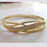 Bratara in culoarea aurului 14K zirconii albe - ZS1526