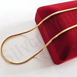 Lant inox aurit 50 cm/2 mm - BN432