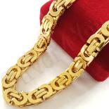 Bijuterii Inox Dama - Lant inox aurit - diferite lungimi/9 mm - BN411