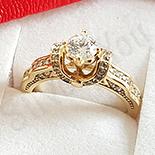Inel in culoarea aurului de 14K - ZS1459B