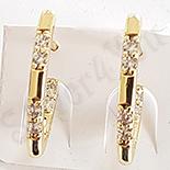 Cercei in culoarea aurului 14K zirconii albe - ZS16003