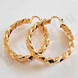 Cercei auriti cu aur de 18K - 4.5 cm - AB05