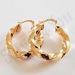 Cercei auriti cu aur de 18K - 3 cm - AB06