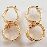 Cercei auriti cu aur de 18K - 3.5 cm /1.6 cm - AB24