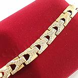 Cadouri Femei - Bratara in culoarea aurului 14K zirconii albe - 17-18 cm - ZS1657