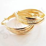 Cercei auriti cu aur de 14K - 4 cm - AB16