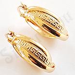 Cercei auriti cu aur de 18K - 2.5 cm - AB23